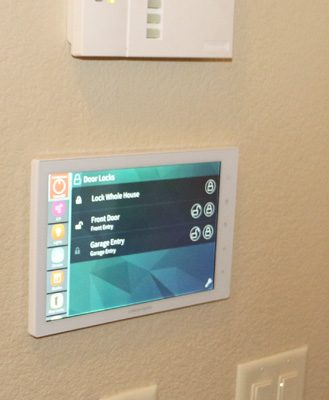 Touch pads integrated in key locations throughout the home.