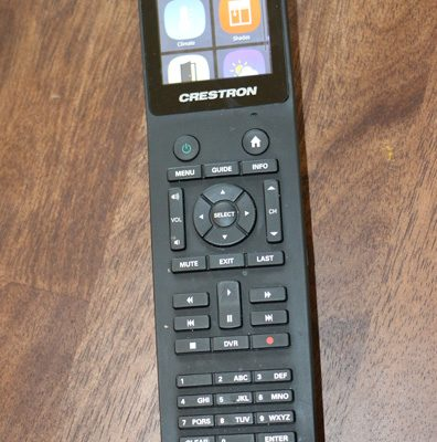 Remotes in each room can control programming and home controls.
