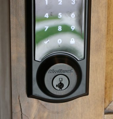 Doors can be unlocked with electronic keypad, a key or from any touch pad in the home.